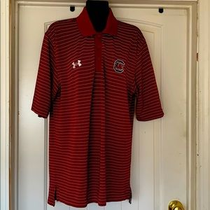 Under Armour golf shirt striped maroon size SM